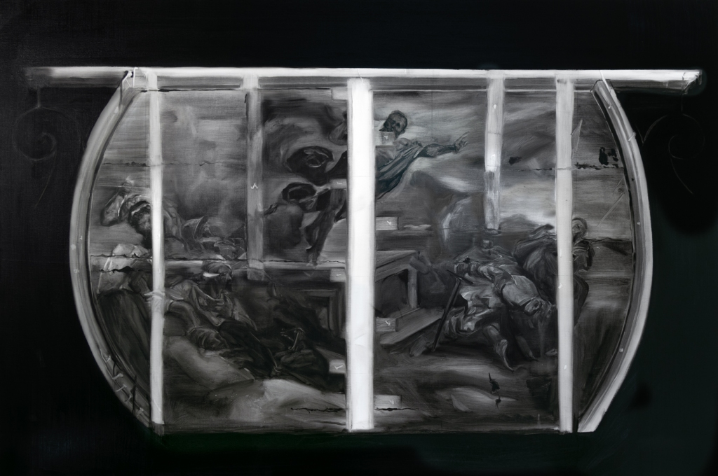 Resurrección. Oil on linen. 130x195 radiografia 2018