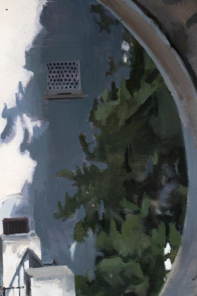 Apolo desde óculo. OIil con canvas. 80 X 80 cm.